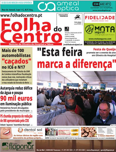 Capa do Jornal Folha do Centro