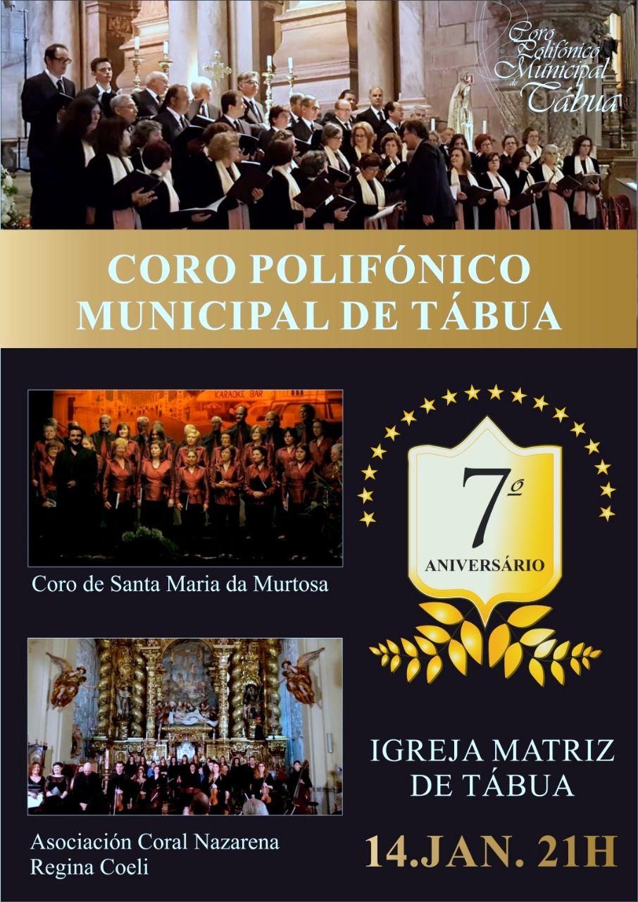 cartaz 7 Aniversário Coro Polifónico Municipal de Tábua