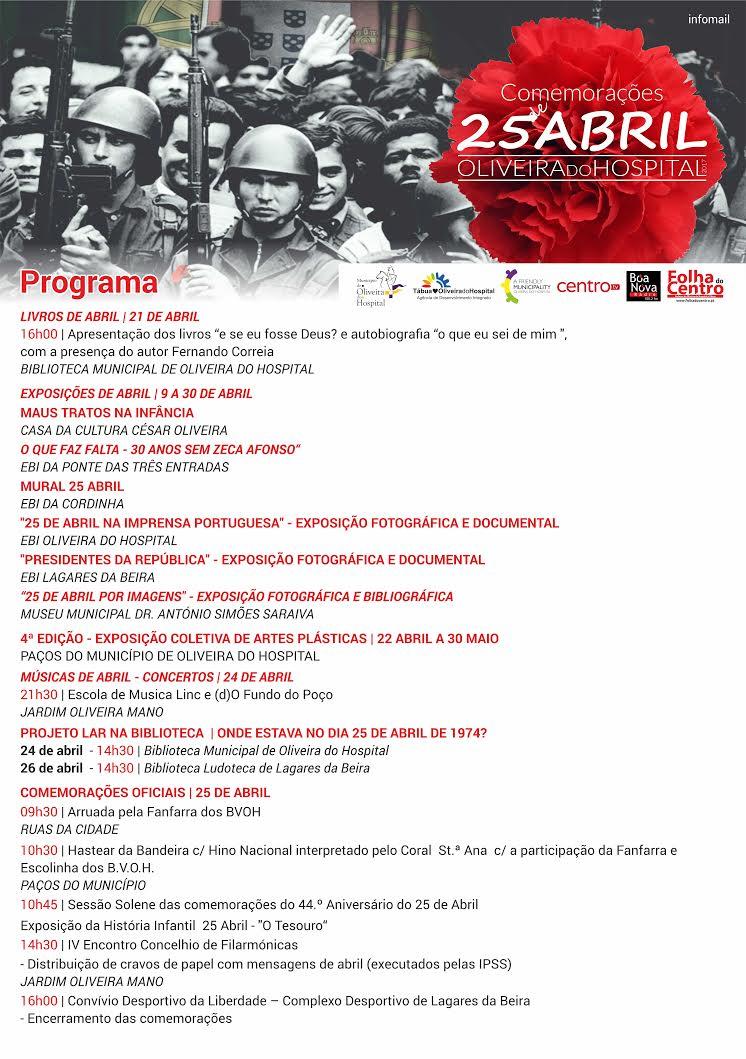 Programa 25 abril