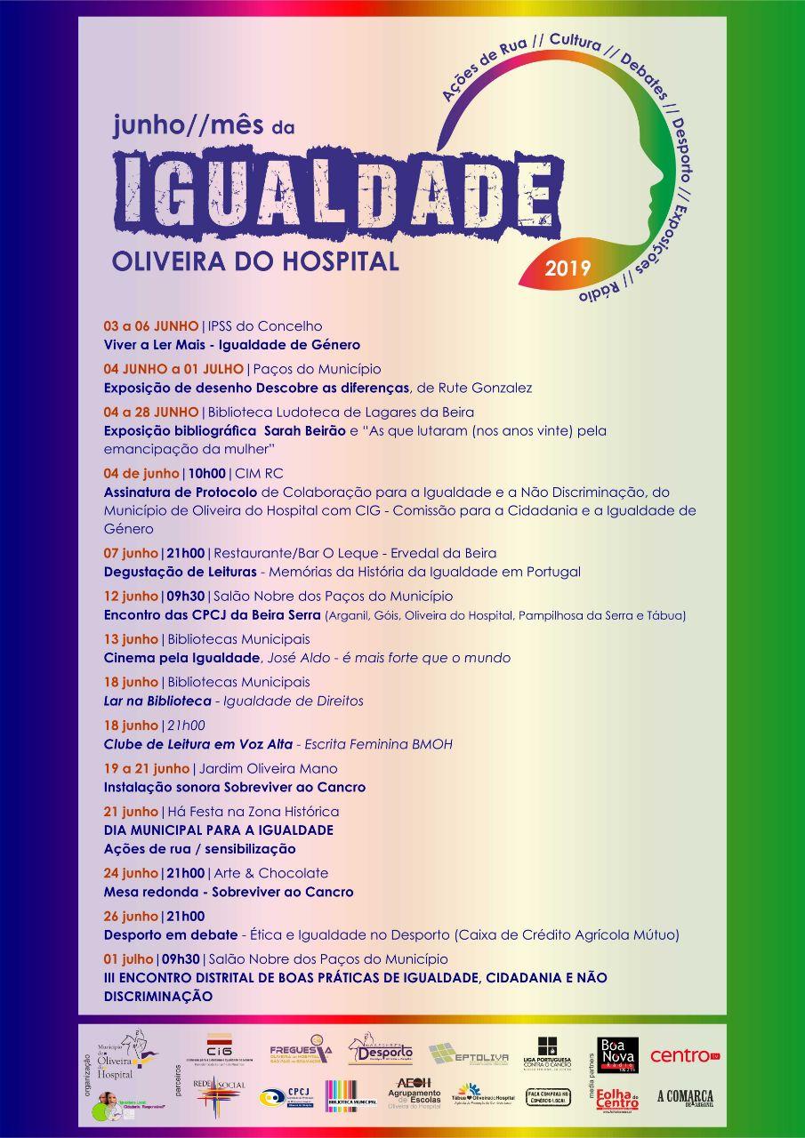 Programa junho mes da igualdade